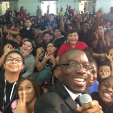 Azuka Inspires 800 Middle School Students, NJ USA.