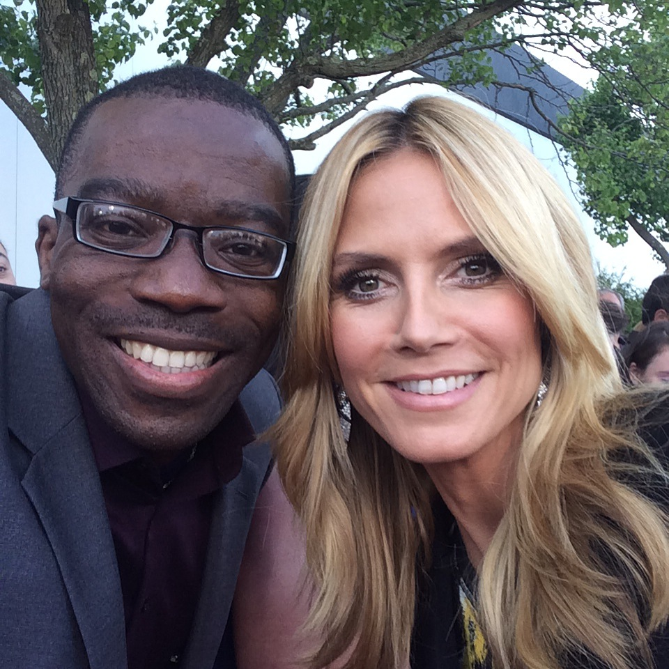 Azuka & Heidi Klum- Model, TV Host, Fashion Designer, Actress, German. Smiling makes you more cute.