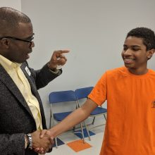 Azuka engages the youth one-on-one in USA and charges them to greatness